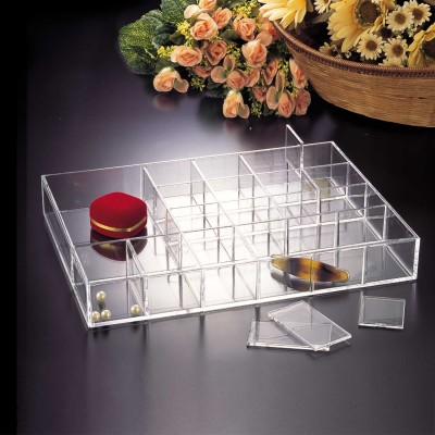 JEWELLRY TRAY WITH REMOVABLE DIVIDER LARGE  F1298