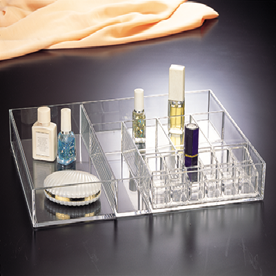 Compartment Tray W/ 12-Space Lipstick Holder