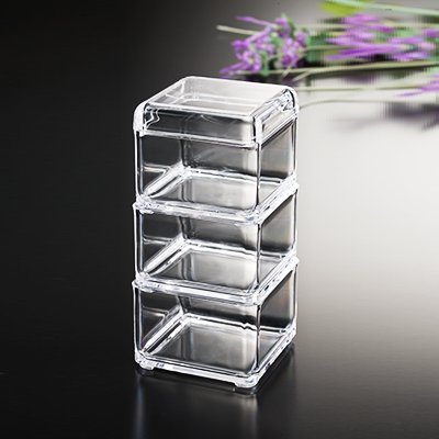 3-PC Square Stacking Box With Lid