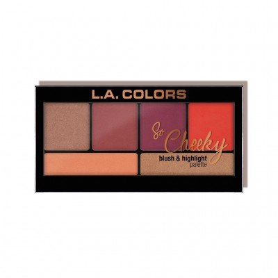 L A COLORS So Cheeky Blush & Highlight Palette