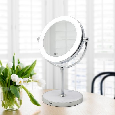 ROUND MAKEUP MIRROR WITH STAND RM160