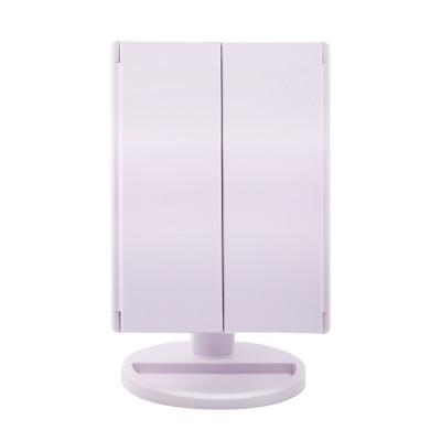 TRI-FOLD LED VANITY MIRROR 1X MAGNIFICATION