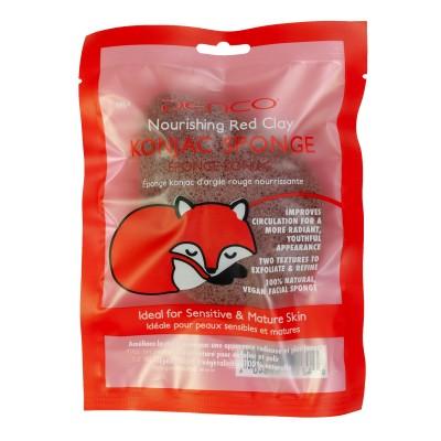 4984N RED CLAY KONJAC SPONGE