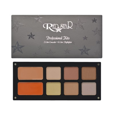 RED STAR  2 COLOR CONCEALER AND 6 COLOR HIGHLIGHTER