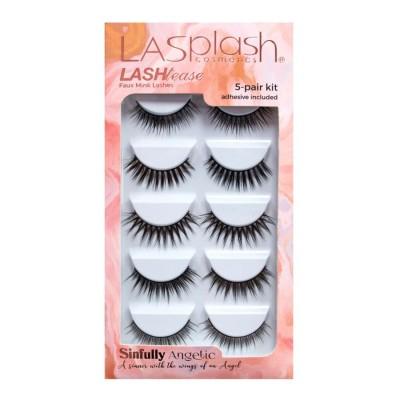 LA SPLASH LASH TEASE Sinfully Angelic synthetic Mink Faux Lashes 5-pair kit